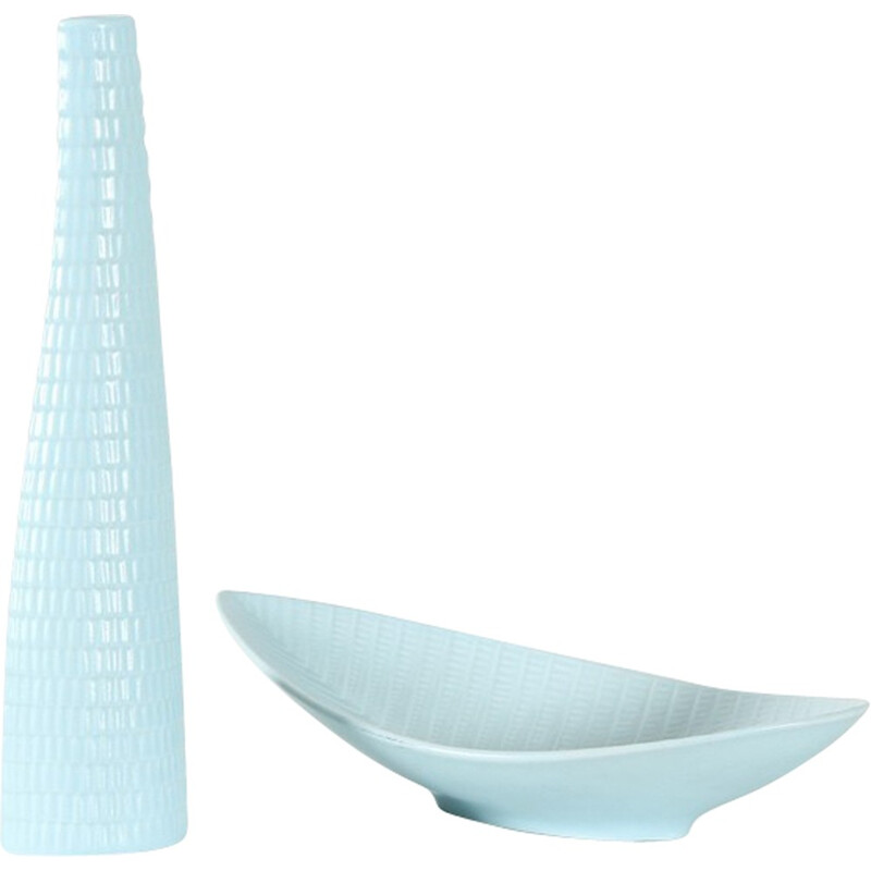 Reptil set of cup and vase by Stig Lindberg for Gustavberg - 1950s