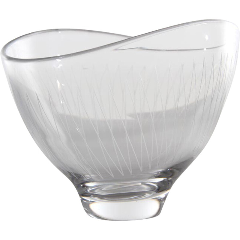 Vintage glass cup by Vicke Lindstrand for Orreffors - 1960s