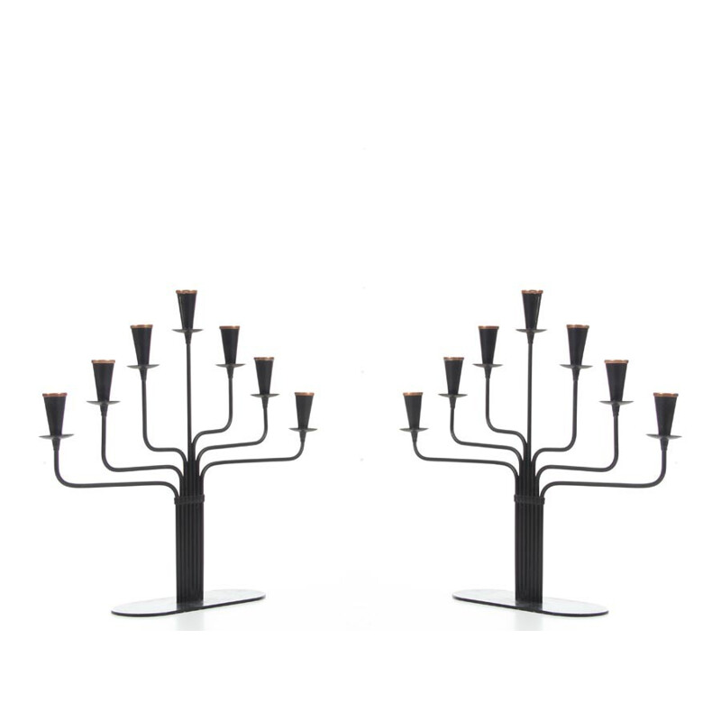 Pair of small candelabra for Ystad Metall - 1960s
