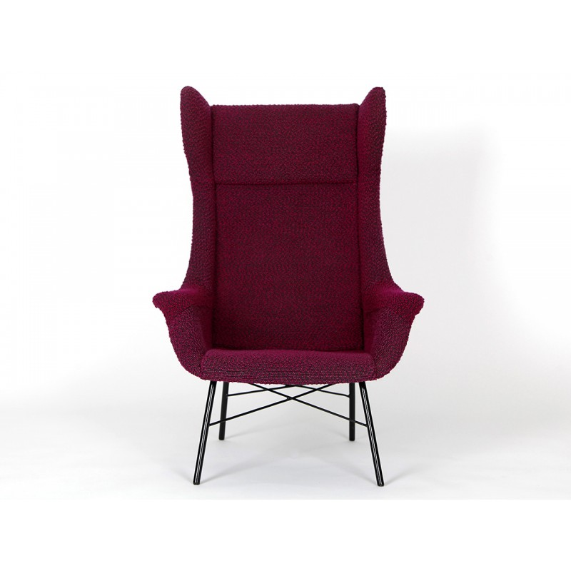 Vintage Purple Armchair By Miroslav Navratil For Ton   1960s   Design Market