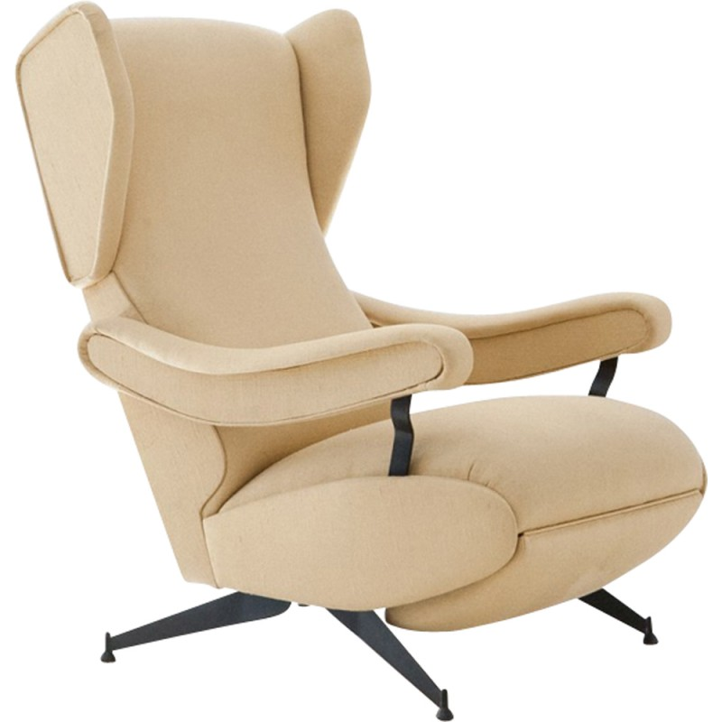 Enjoyable Oscar Reclining Vintage Lounge Chair By Nello Pini 1960S Download Free Architecture Designs Grimeyleaguecom
