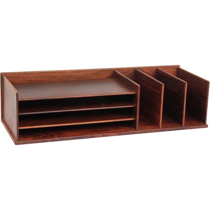 Storage box or desk organizer made of Rio rosewood for Georg Petersens - 1960s