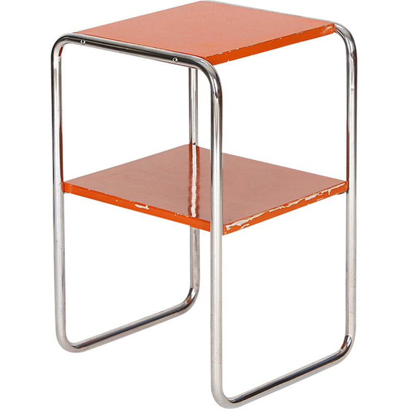 Tubular steel side table by Rudolf Vichr - 1930s