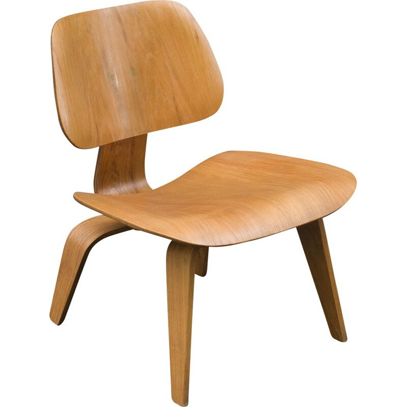 """LCW"" armchair in oak by Charles Eames for Herman Miller - 2000s"