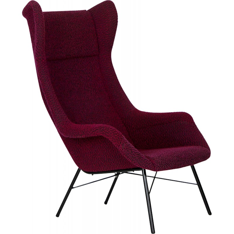 Vintage Purple Armchair By Miroslav Navratil For Ton   1960s