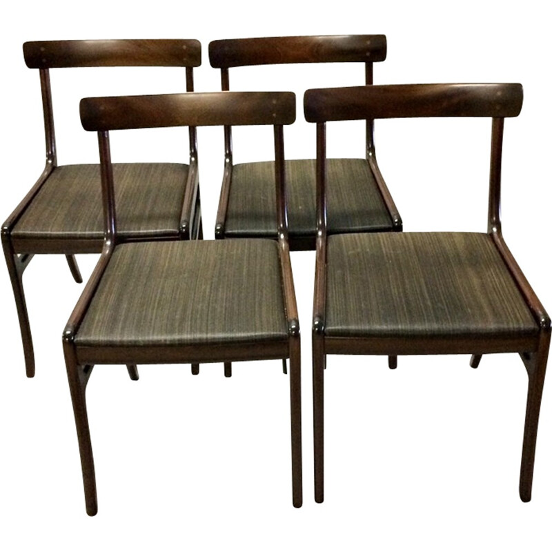 "Set of 4 ""Rungstedlund"" Dining Chairs in Mahogany by Ole Wanscher - 1960s"