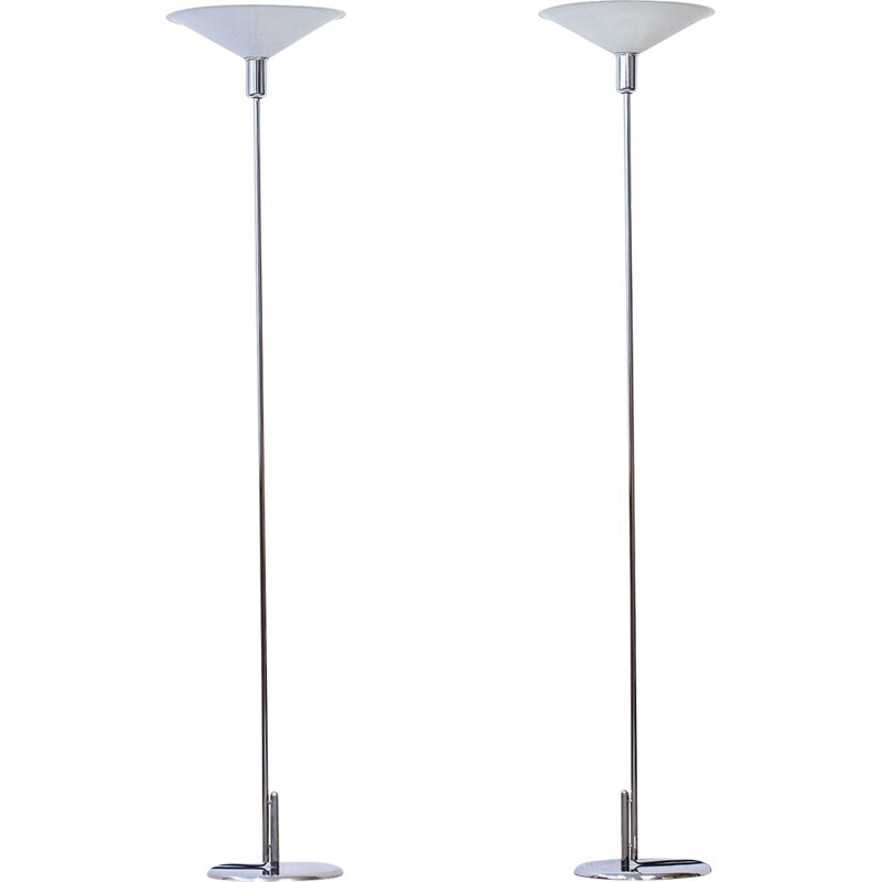 Pair of Floor Lamps by Lindau & Lindekrantz for Zero Interior - 1970s