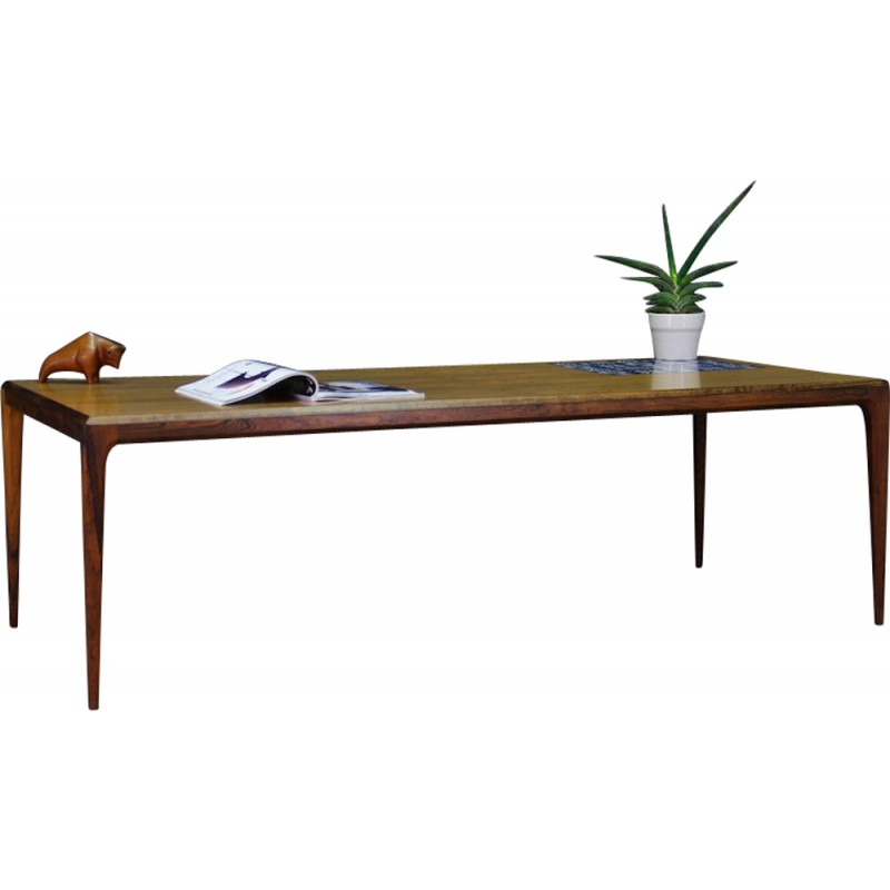 Danish Rosewood Coffee Table By Johannes Andersen For C.F.C. Silkeborg    1960s