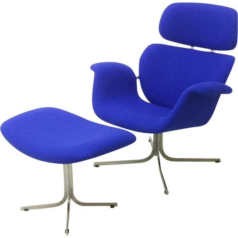 Big Tulip blue armchair by Pierre Paulin fro ARTIFORT - 1960s