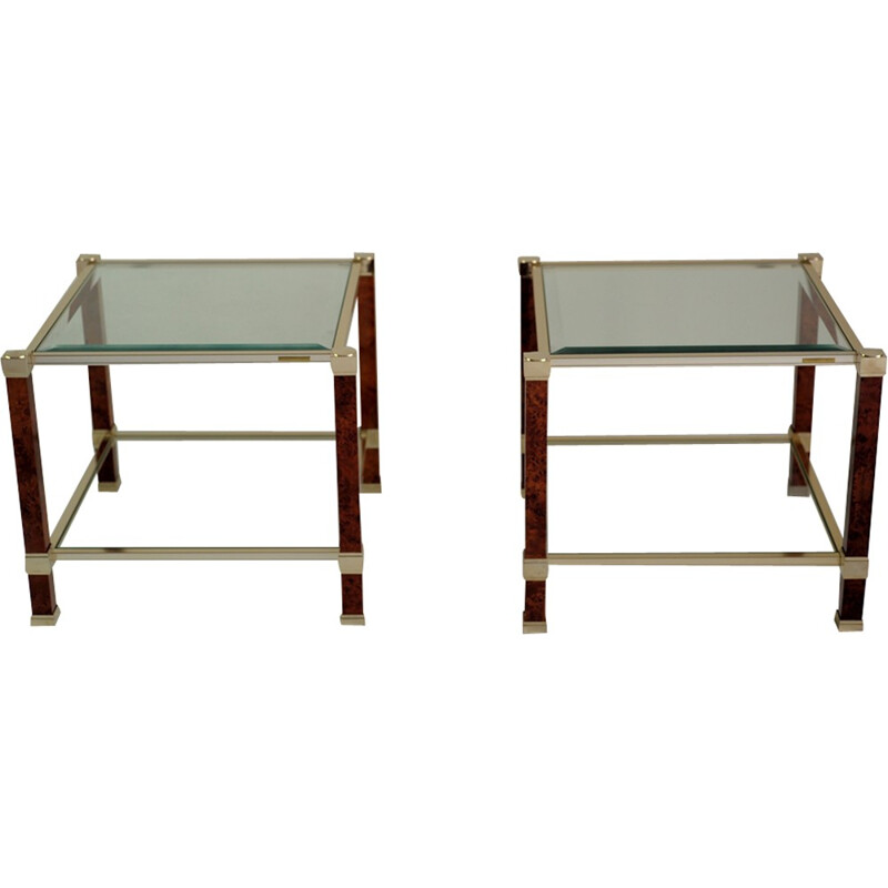 Pair of side tables from Pierre Vandel - 1980s