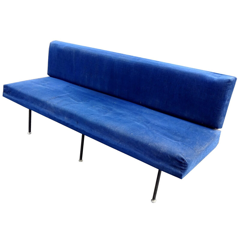 Blue Vintage model 32 sofa by Florence Knoll - 1960s