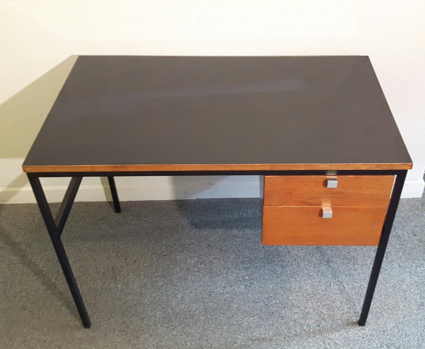 Writing desk in wood and formica by thonet 1960s design market