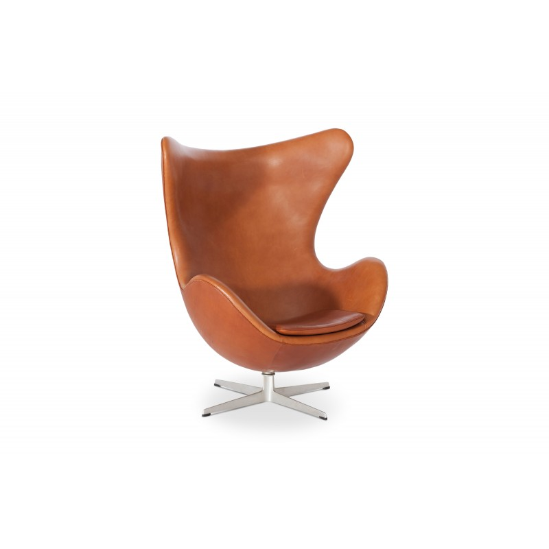 Egg Chair Cognac.Egg Chair In Cognac Leather By Arne Jacobsen 1960s Design Market