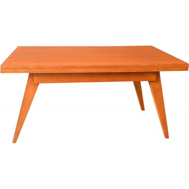 Magic Vintage Coffee Table In Wood By Albert Ducrot 1950s