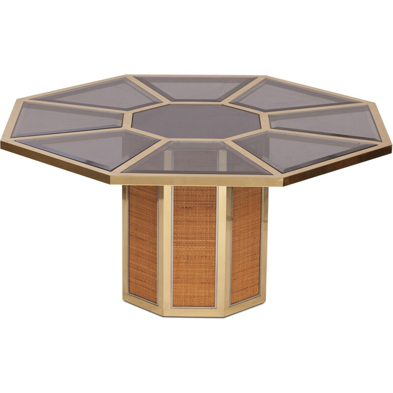 Italian Glam Octagonal Dining Table, Romeo Rega - 1970s