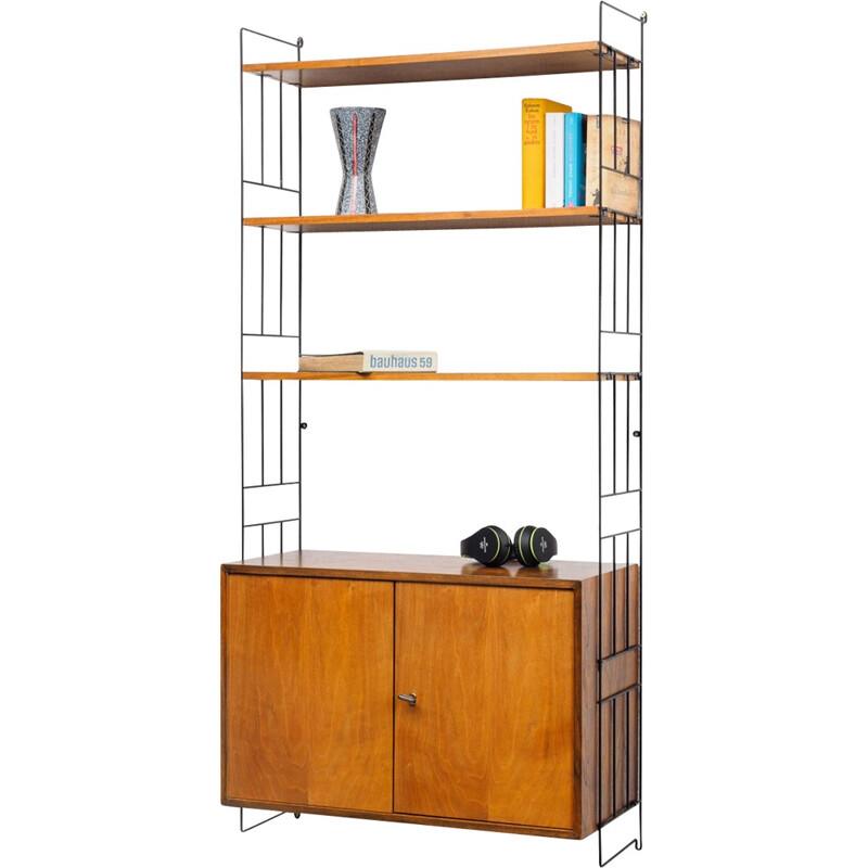 WHB wall-mounted shelving system,walnut - 1960s