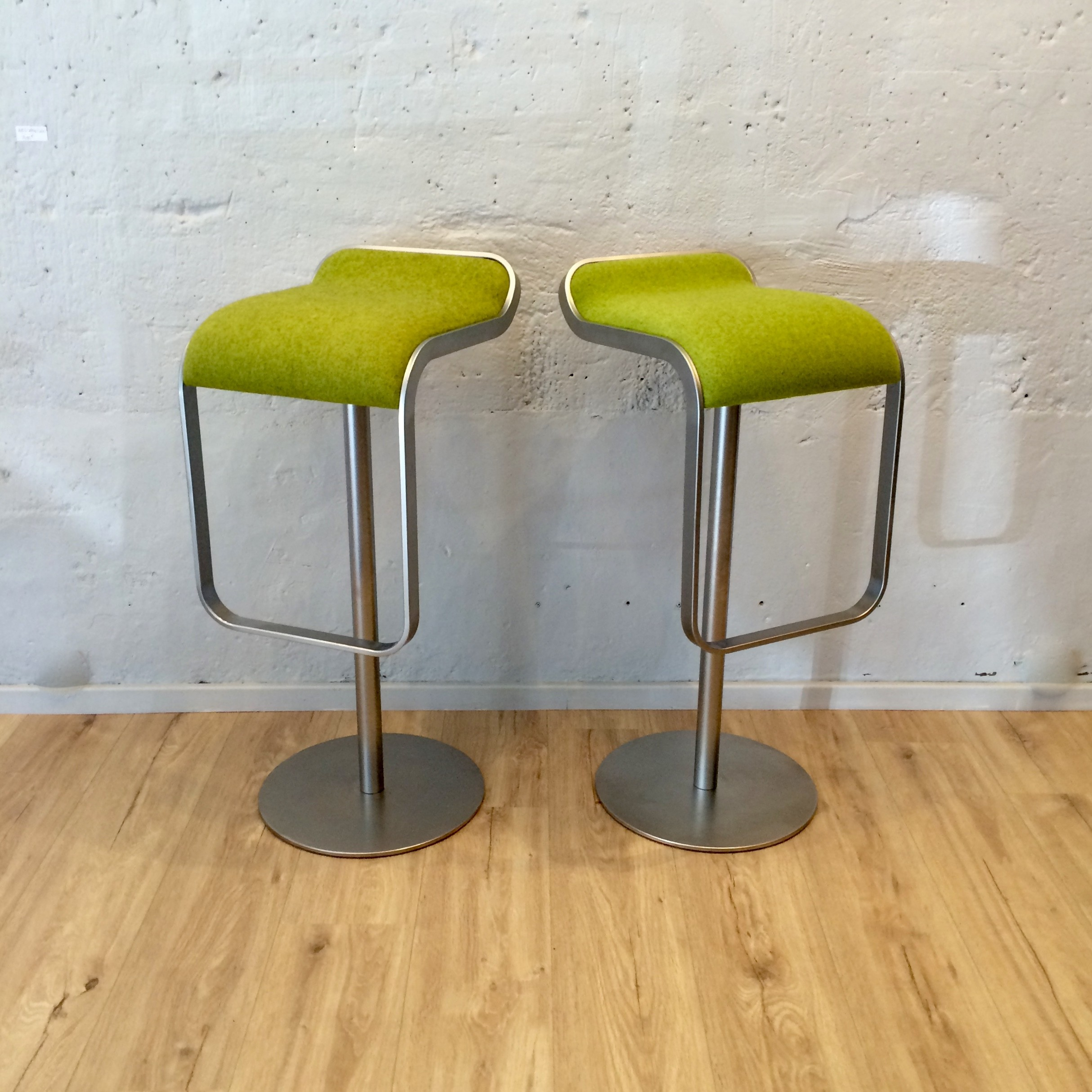 Pair Of Quot Lem Quot Green Bar Stools Shin And Tomoko Azumi