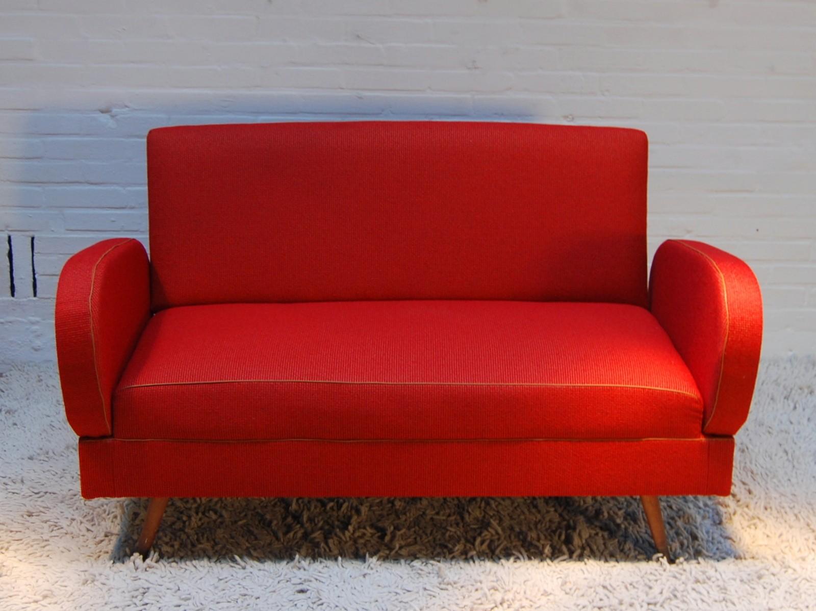 Mid Century Modern Dark Red Sofa 1960s Previous Next