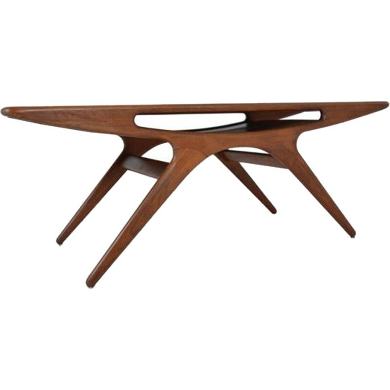 """Vintage """"Smile"""" Coffee Table by Johannes Andersen for CFC Silkeborg - 1950s"""