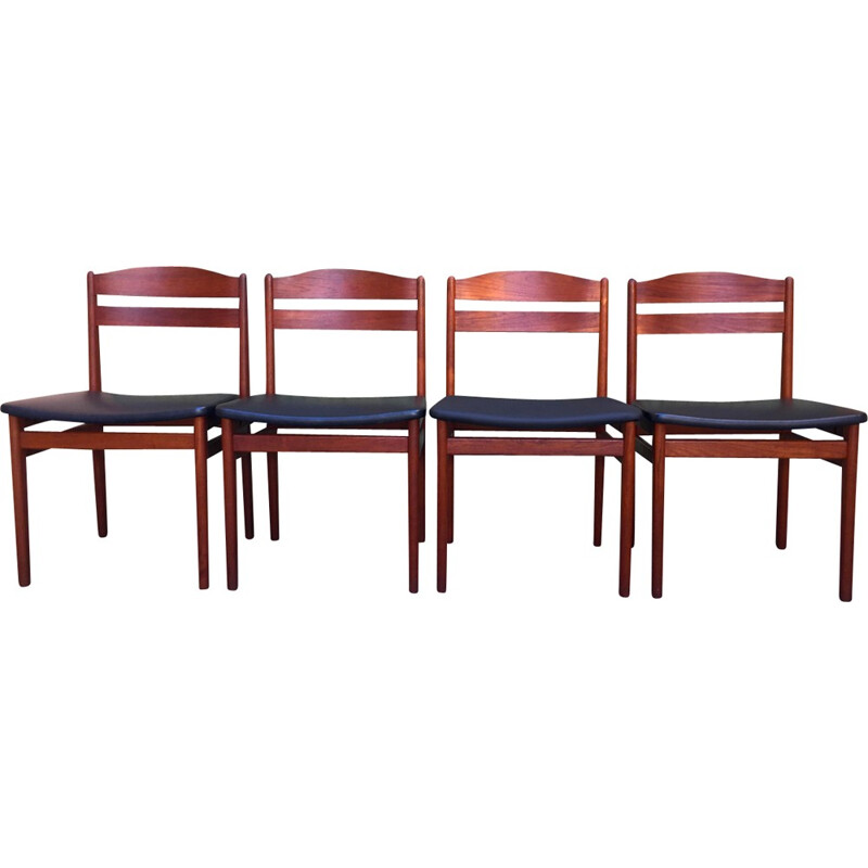Set of 4 Scandinavian teak chairs produced by Boltinge Stolfabrik - 1960s