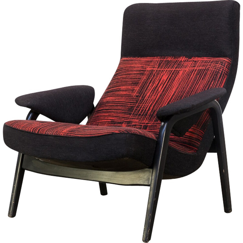 "Fauteuil vintage ""N 137"" by Theo Ruth for Artifort - 1950s"