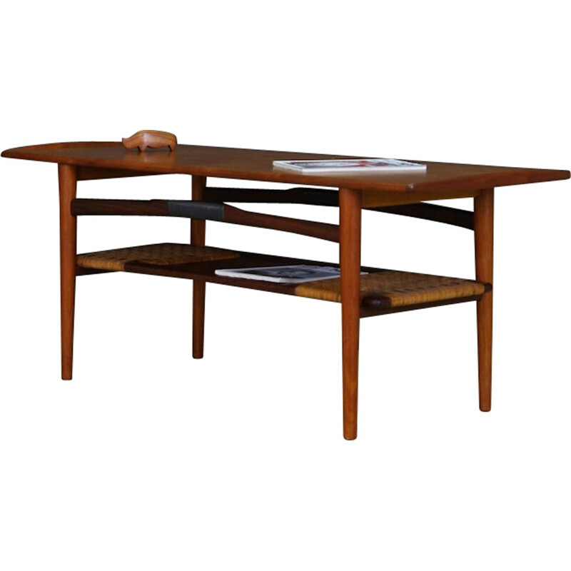 Vintage Teak Coffee Table Danish Design - 1970s