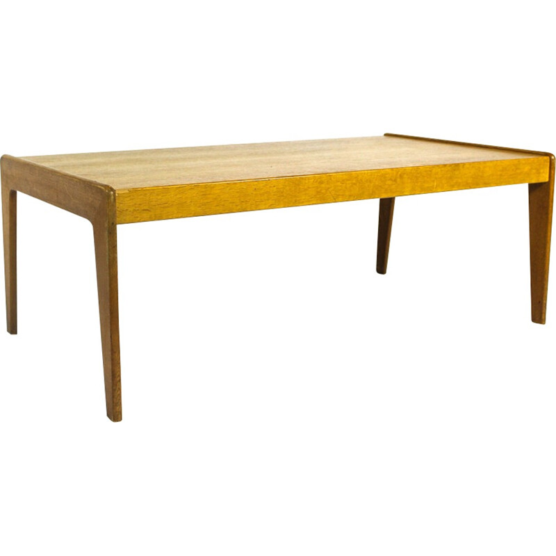 Mid-Century Teak Veneer Coffee Table by Arne Wahl Iversen for Komfort - 1960s
