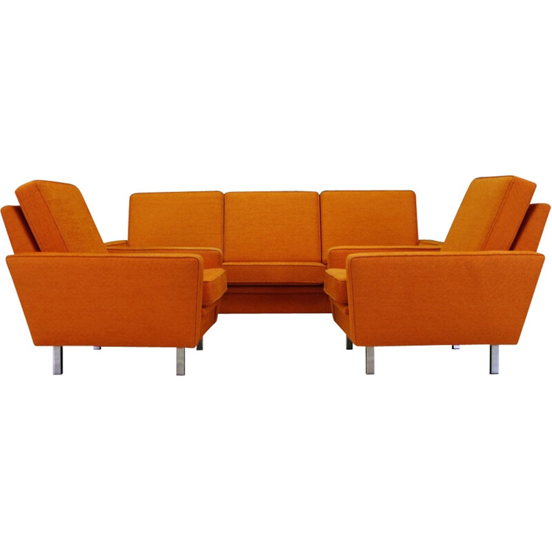 Set Of Living Room With Sofa And Armchairs, Danish Retro Design   1970s
