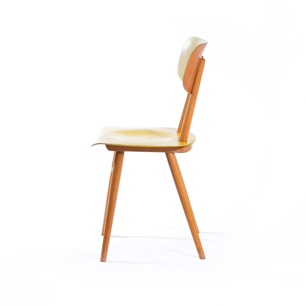 vintage yellow kitchen chairton - 1960s - design market