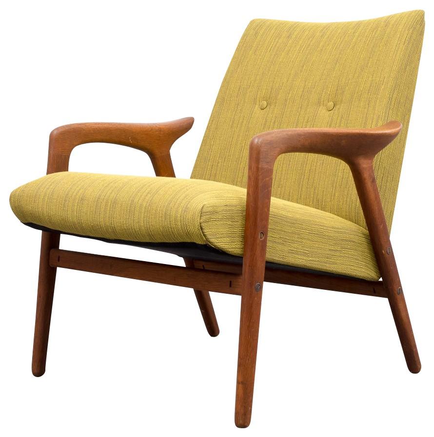 Scandinavian style armchair in oak - 1950s - Design Market