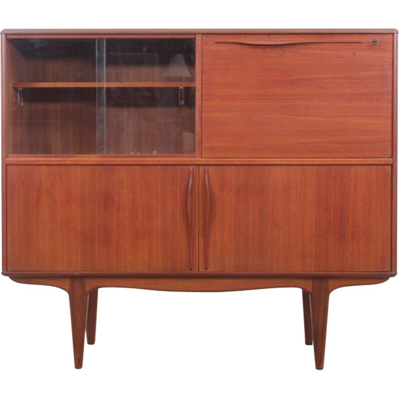 Scandinavian vintage teak sideboard with secretary - 1960s