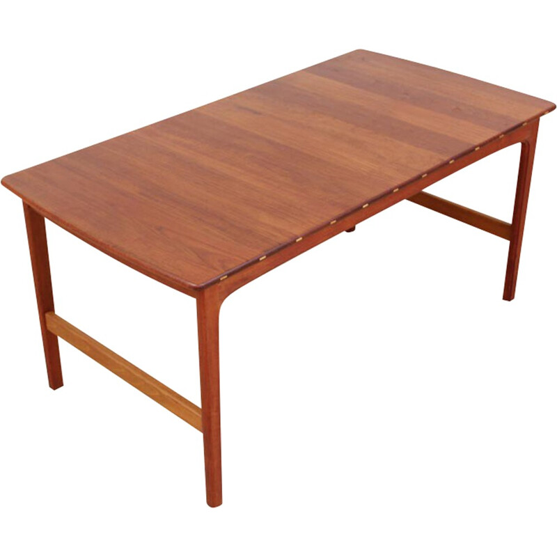 Scandinavian coffee table in solid teak by Yngvar Sandström - 1960s