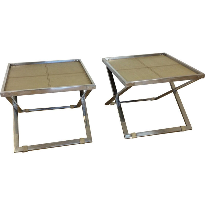 Pair of vintage X Frame Butlers tables - 1960s