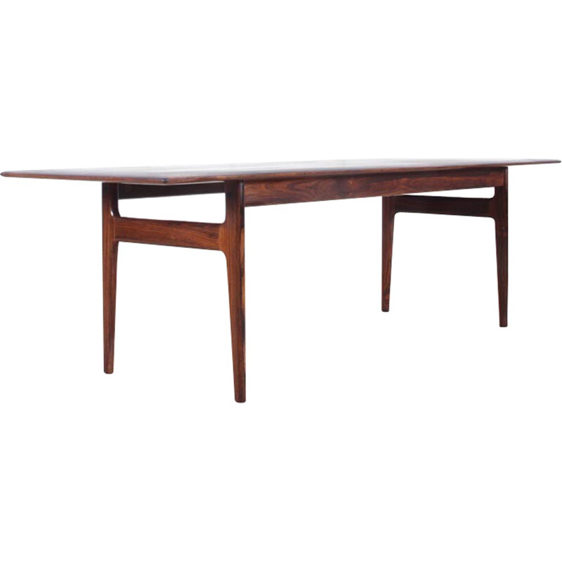 Scandinavian coffee table in Rio rosewood produced by CFC Silkeborg - 1960s