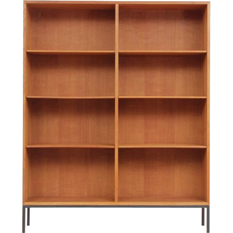 Scandinavian oak bookcase by Borge Mogensen for FDB - 1950s