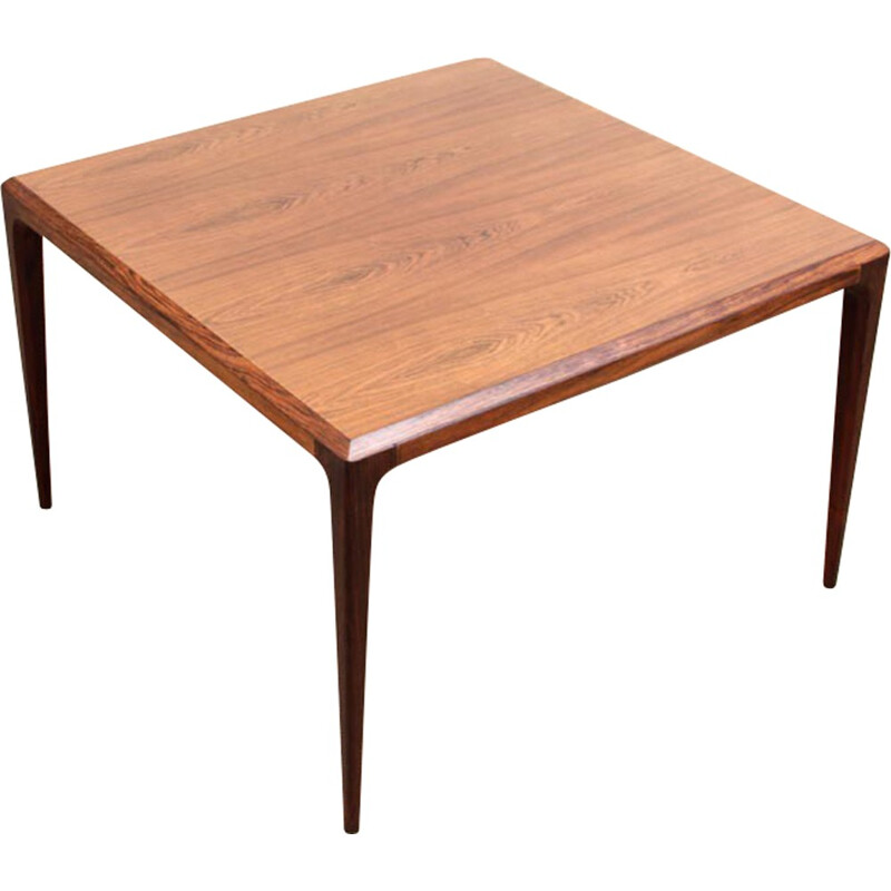 Square Scandinavian Rio rosewood coffee table by de Johannes Andersen - 1960s