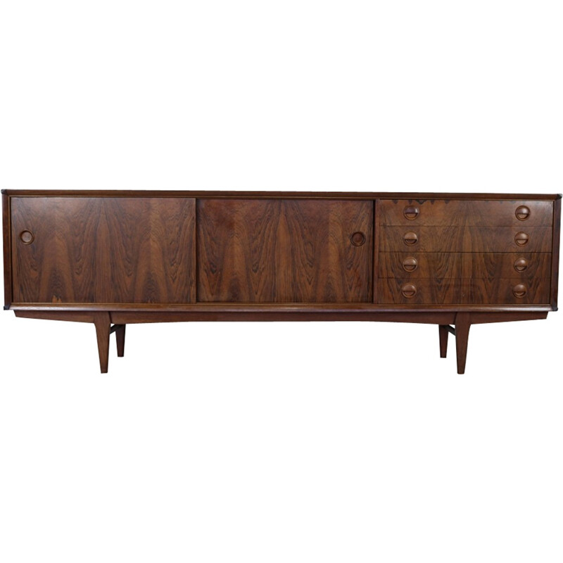 Vintage woodgrain rosewood sideboard by Watting for Fristho - 1960s