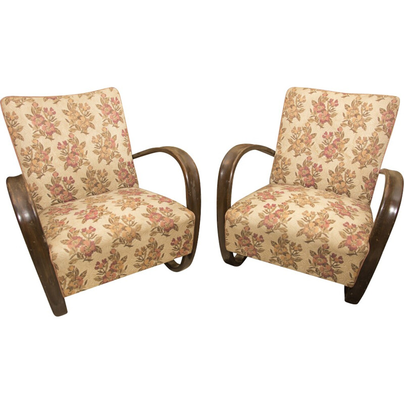 Pair of H-269 Armchairs by Jindřich Halabala for UP Závody Brno - 1930s