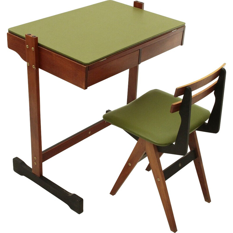 Desk and chair by Fratelli Reguitti - 1960