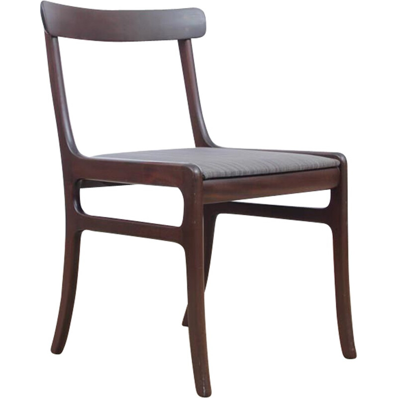 Suite of 6 scandinavian mahogany chairs, Rungstedlund model by Ole Wansher for P. Jeppesen - 1960s