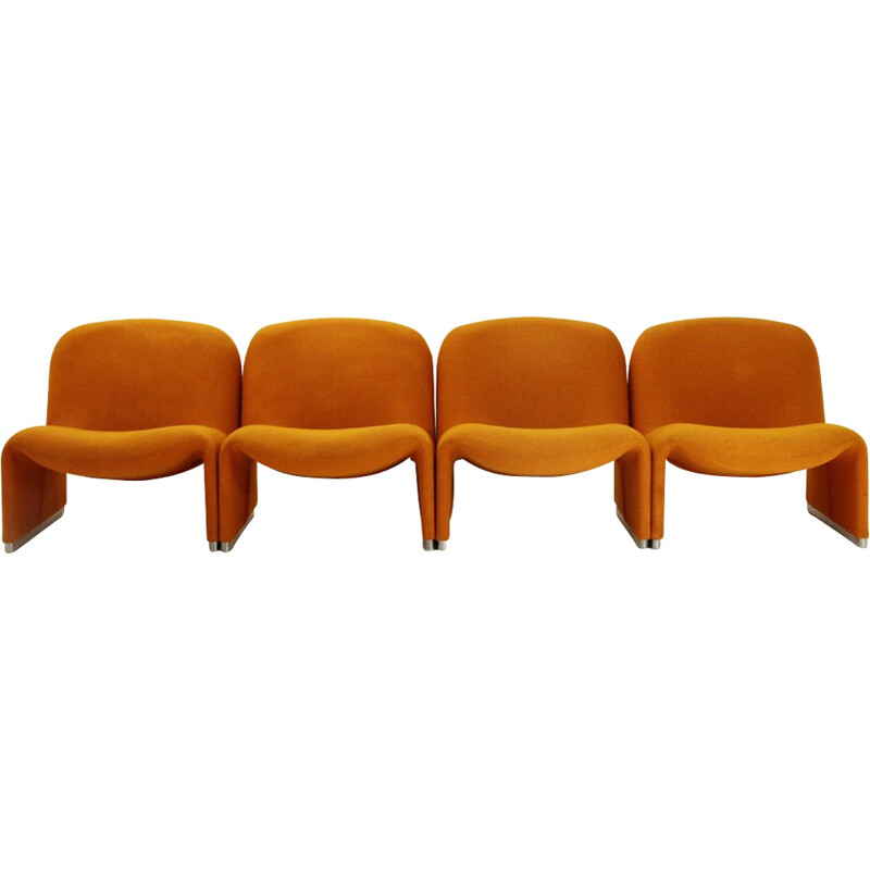 Set of 4 Alky Armchair by Giancarlo Piretti for Anonima Castelli - 1960s