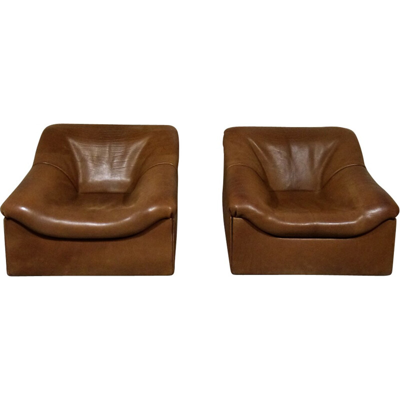 Pair of De Sede DS46 Lounge Chairs - 1970s