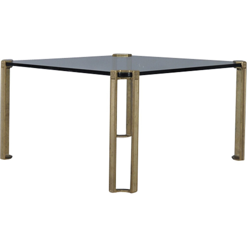 Bronze and Glass Coffee Table by Peter Ghyczy - 1970s