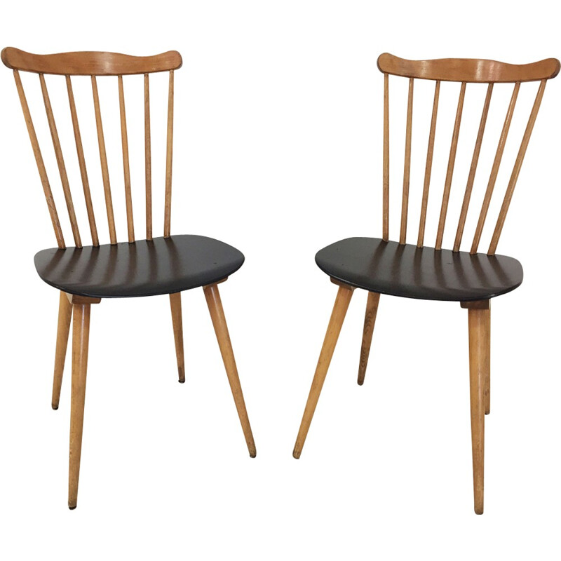 Pair of Baumann chairs, Menuet model - 1960s