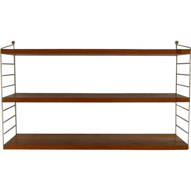 String wall unit with white standers by Nisse Strinning - 1970s