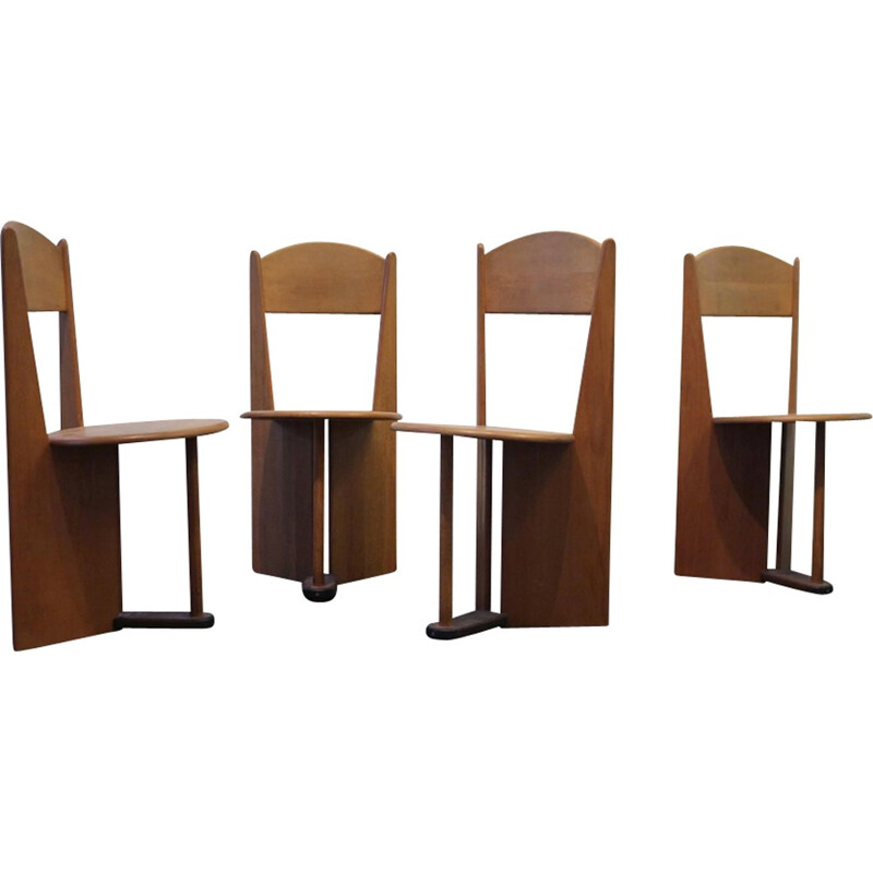 Set of 4 vintage swiss chairs - 1980s