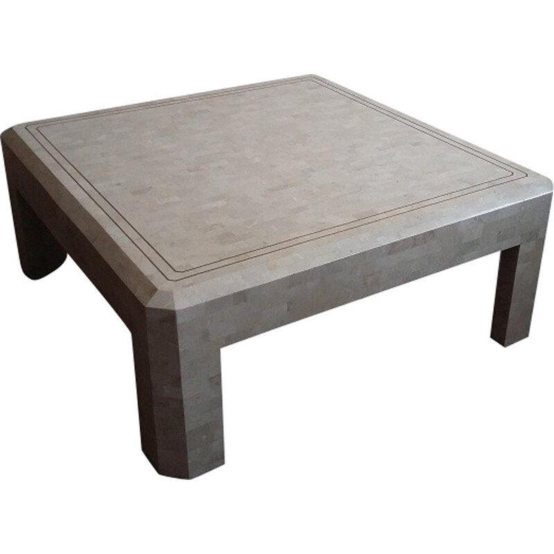 Vintage Travertine coffee table - 1970s
