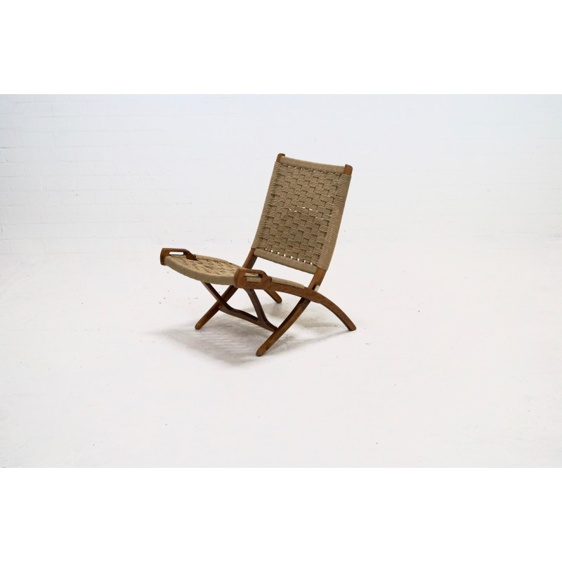 Astounding Mid Century Folding Rope Chair By Ebert Wels 1960S Ocoug Best Dining Table And Chair Ideas Images Ocougorg