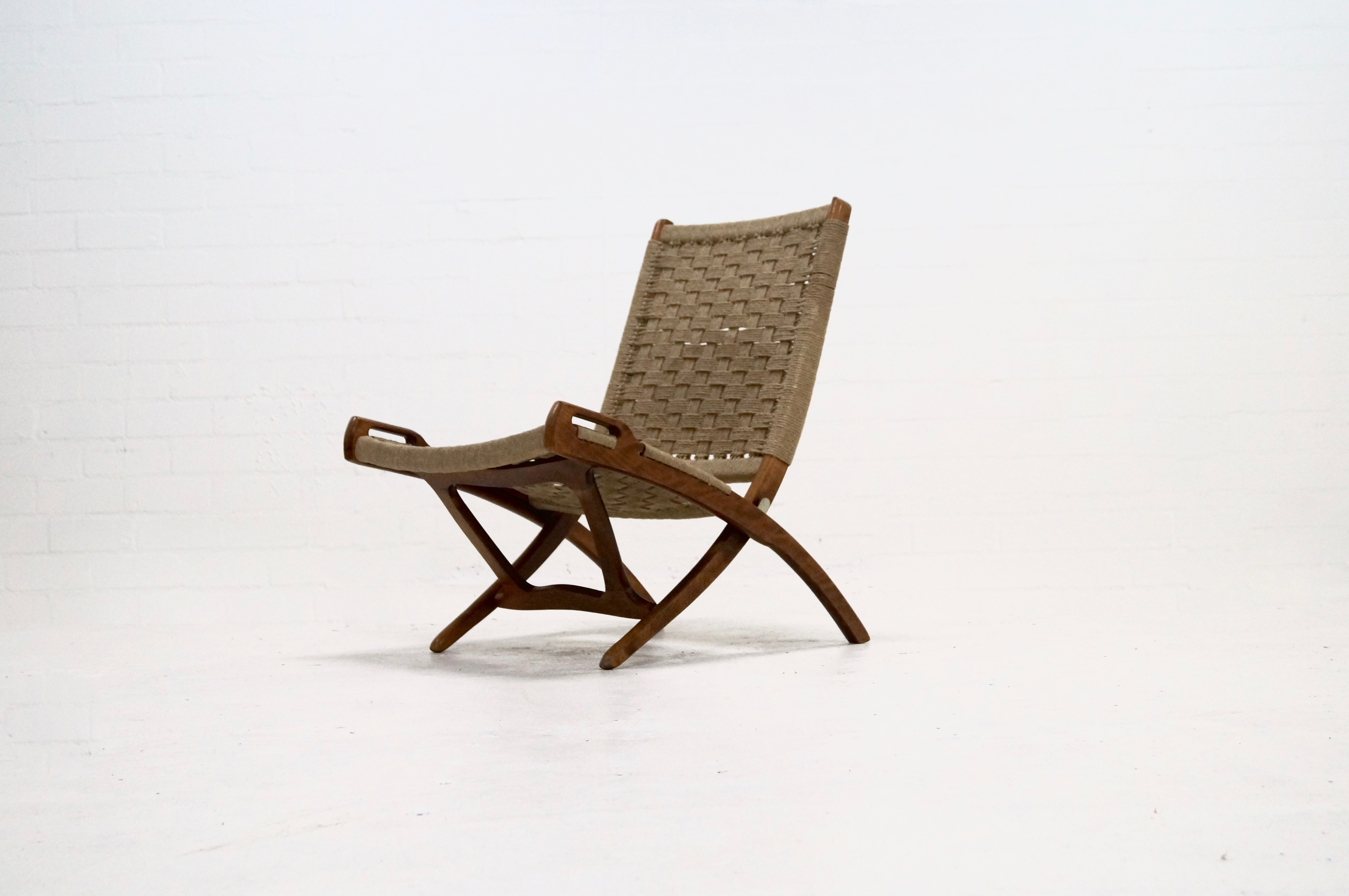 Mid century Folding Rope Chair by Ebert Wels 1960s Design Market