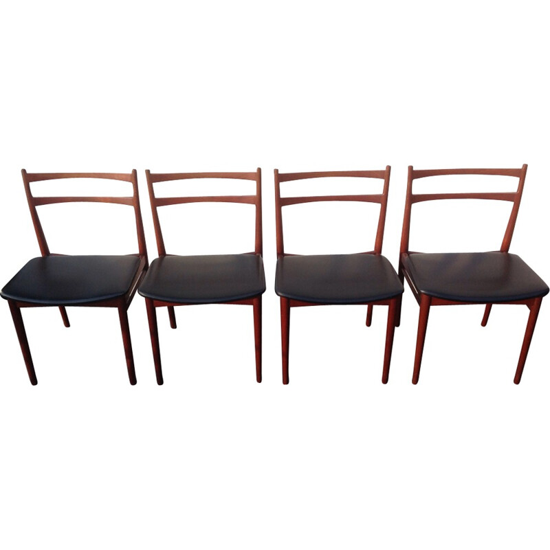 Set of 4 chairs by Henry Rosengren Hansen - 1960s